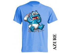 levné-dětské-tričko-azurově_modré-cookie_monster