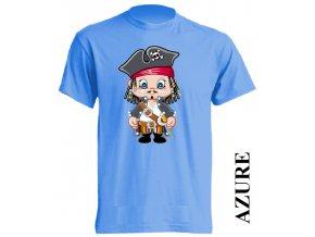 levné-dětské-tričko-azurově_modré-pirát