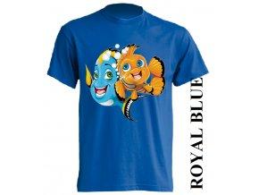 levne-detske-tricko-nemo-dory-modre