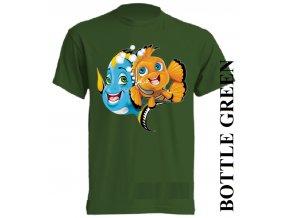 bavlněné-dětské_tričko_s_potiskem-tmavě_zelené-nemo