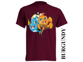 bavlněné-dětské-tričko-vínové-burgundy-nemo