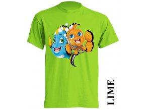 dětské-tričko-limetkové-potisk-nemo