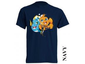 bavlněné-levné-dětské_tričko-tmavě_modré-potisk-nemo