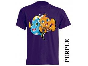 levné-dětské_tričko-fialové-rybičky