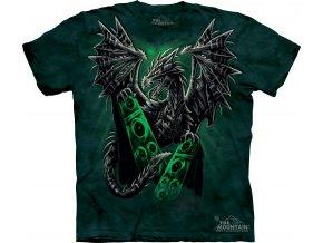 tričko-drak-rockové-batikované-potisk-reproduktor