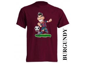 bavlněné-dětské-tričko-vínové-burgundy-fotbalista