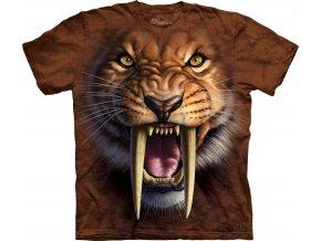 dětské tričko-šavlozubý tygr-3d-potisk-mountain-bavlna