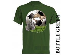 bavlněné-dětské_tričko_s_potiskem-tmavě_zelené-fotbalový-míč