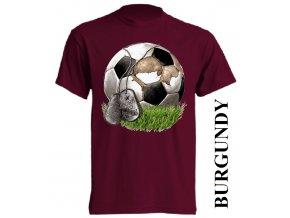 bavlněné-dětské-tričko-vínové-burgundy-fotbalový_míč