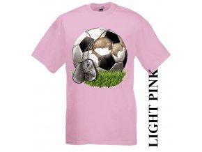 dětské-tričko-růžové-motiv-fotbal-míč