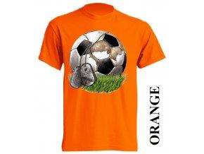 film-dětské_tričko-oranžové-motiv-fotbalový_míč