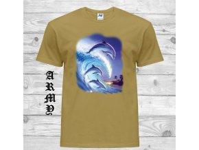 cerne tricko delfini vlna