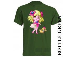 bavlněné-dětské_tričko_s_potiskem-tmavě_zelené-barbie