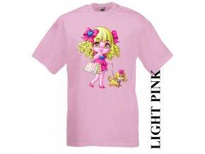 dětské-tričko-růžové-motiv-barbie-pejsek