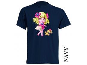 bavlněné-levné-dětské_tričko-tmavě_modré-potisk-barbie