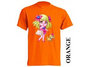 film-dětské_tričko-oranžové-motiv-barbie