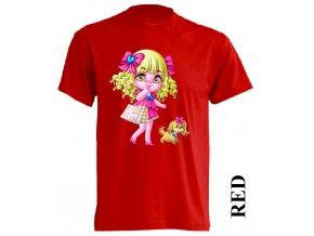 levné-dětské-tričko-červené-barbie