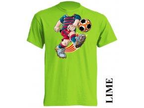 levné-dětské-tričko-fc-barcelona-limetkove-zelene
