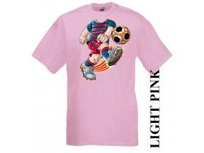 dětské-tričko-růžové-motiv-fotbal-barcelona
