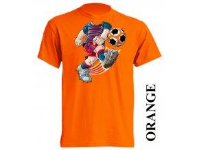 film-dětské_tričko-oranžové-motiv-fotbalista_barcelona
