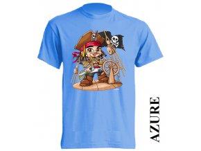 levne-tricko-pirat-karibik-azurove-modre