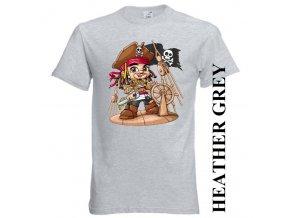 bavlněné-dětské-tričko-šedé-potisk-piráti-caribik