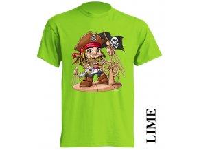 dětské-tričko-limetkové-potisk-pirát-karibik