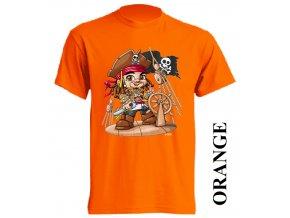 film-dětské_tričko-oranžové-motiv-piráti_z_karibiku