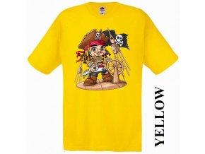 bavlněné-levné-dětské-tričko-žluté-pirát_karibik