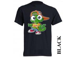levné-dětské-tričko-černé-ještěr
