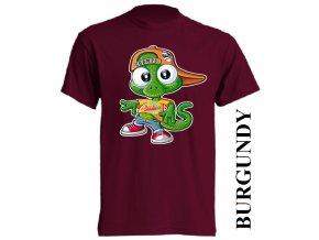 bavlněné-dětské-tričko-vínové-burgundy-ještěrka
