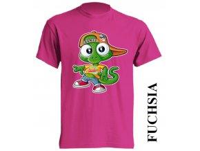 dětské_tričko-fuchsiové-tmavě_růžové-ještěrka