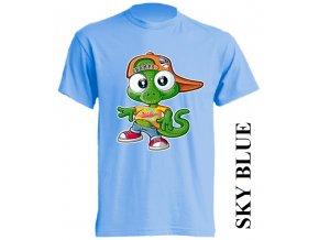 dětské-tričko-světle_modré-motiv-ještěrka