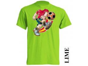 levné-dětské-tričko-fotbalista-limetkove-zelene