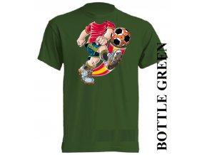 bavlněné-dětské_tričko_s_potiskem-tmavě_zelené-fotbal