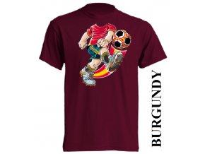 bavlněné-dětské-tričko-vínové-burgundy-fotbal