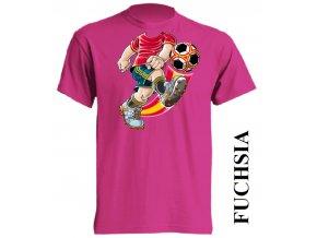 dětské_tričko-fuchsiové-tmavě_růžové-fotbal