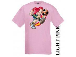 dětské-tričko-růžové-motiv-fotbal-bayern