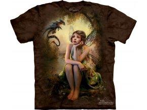 tričko, pohádkové, víla, batikované, potisk, mountain