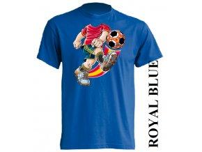 dětské_tričko-modré-potisk-fotbal