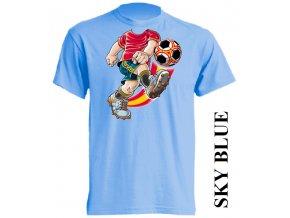 dětské-tričko-světle_modré-motiv-fotbalista-míč