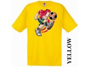 bavlněné-levné-dětské-tričko-žluté-fotbal