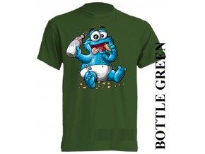 bavlněné-dětské_tričko_s_potiskem-tmavě_zelené-cookie_monster