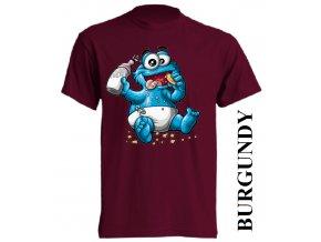bavlněné-dětské-tričko-vínové-burgundy-cookie_monster