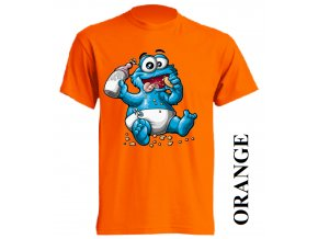 film-dětské_tričko-oranžové-motiv-cookie monster