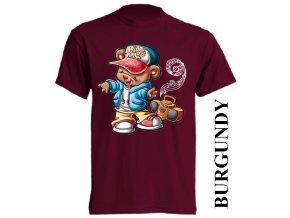 bavlněné-dětské-tričko-vínové-burgundy-hip_hop_tanec