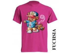 dětské_tričko-fuchsiové-tmavě_růžové-hiphop