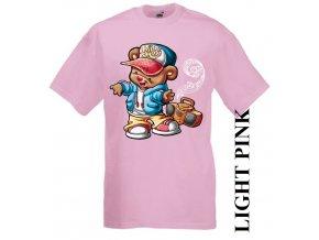 dětské-tričko-růžové-motiv-medvěd