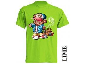 dětské-tričko-limetkové-potisk-medvídek