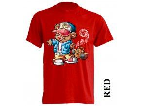 levné-dětské-tričko-červené-medvídek